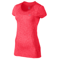 Nike Dri-FIT Knit Short Sleeve T-Shirt - Women's - Red / Red