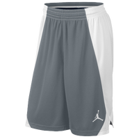Jordan Team Jumpman Practice Shorts - Men's - Grey / White