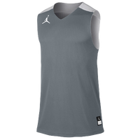 Jordan Team Jumpman Practice Reversible Jersey - Men's - Grey / White