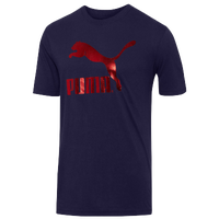 PUMA #1 Logo T-Shirt - Men's - Navy / Red