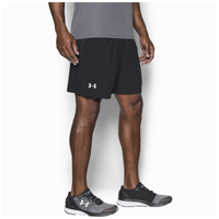 "Under Armour 7"" Launch Stretch Woven Run Shorts - Men's - Black / Black"
