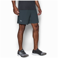 "Under Armour 7"" Launch Stretch Woven Run Shorts - Men's - Grey / Grey"