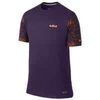 Nike Lebron Hummingbird T-Shirt - Men's - Lebron James - Purple / Orange