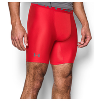 "Under Armour HG Armour 2.0 6"" Compression Shorts - Men's - Red / Grey"