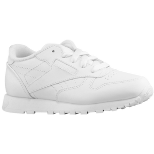 Reebok Classic Leather - Boys' Preschool - White/White