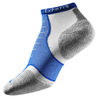 Thorlo Cushioned Heel Micro Mini Running Socks - Blue / White