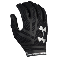 Under Armour Spotlight Pro Football Gloves - Men's - Black / Silver