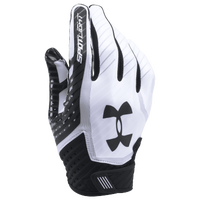 Under Armour Spotlight Football Gloves - Men's - White / Black