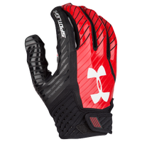Under Armour Spotlight Football Gloves - Men's - Black / Red