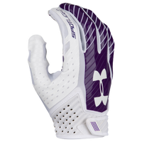 Under Armour Spotlight Football Gloves - Men's - White / Purple
