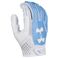 Under Armour Spotlight Football Gloves - Men's - White / Light Blue
