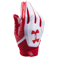 Under Armour Spotlight Football Gloves - Men's - Red / White