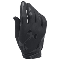 Under Armour Sizzle Football Gloves - Men's - All Black / Black