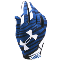 Under Armour Sizzle Football Gloves - Men's - Blue / Black