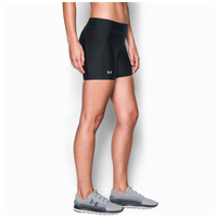 Under Armour Fly By Compression Shorty Shorts - Women's - All Black / Black