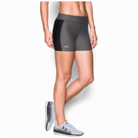 Under Armour Fly By Compression Shorty Shorts - Women's - Grey / Black