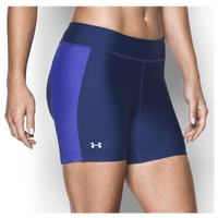 Under Armour Fly By Compression Shorty Shorts - Women's - Purple / Purple