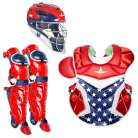 All Star System 7 Catcher's Kit - Grade School - Red / White