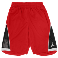 Jordan S.Flight Premium Shorts - Boys' Grade School - Red / White