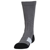 Under Armour Unrivaled Crew Socks - Youth - Grey / Black