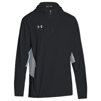 Under Armour Team Squad Woven 1/4 Zip Jacket - Men's - Black / Grey