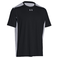 Under Armour Team Raid Color Block S/S T-Shirt - Men's - Black / Grey