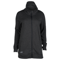 Under Armour Team Terry Traveler Full Zip Jacket - Women's - All Black / Black