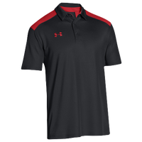 Under Armour Team Colorblock Polo - Men's - Black / Red