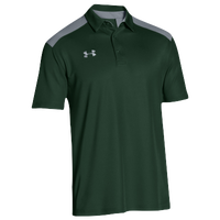 Under Armour Team Colorblock Polo - Men's - Dark Green / Grey