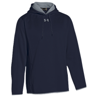 Under Armour Team Double Threat Fleece Hoodie - Men's - Navy / Grey