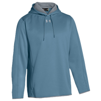 Under Armour Team Double Threat Fleece Hoodie - Men's - Light Blue / Grey
