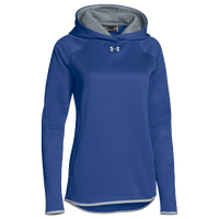 Under Armour Team Double Threat Fleece Hoodie - Women's - Blue / Grey