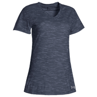 Under Armour Team Stadium Short Sleeve T-Shirt - Women's - Navy / Grey