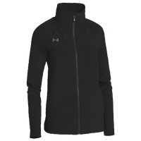 Under Armour Team Squad Woven Warm Up Jacket - Women's - All Black / Black