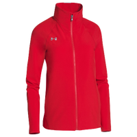 Under Armour Team Squad Woven Warm Up Jacket - Women's - Red / Red