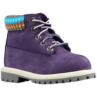 "Timberland 6"" Premium Waterproof Boots - Boys' Toddler - Purple / Multicolor"