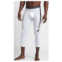 Nike Hypercool 3/4 Compression Tights - Men's - White / Black