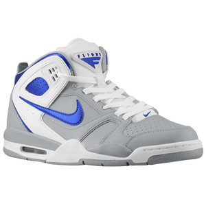 Nike Air Flight Falcon - Men's - Stadium Grey/White/Hyper Blue