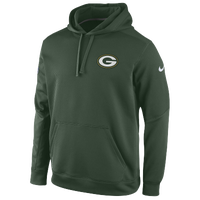 Nike NFL Sideline KO Chain Fleece Hoodie - Men's - Green Bay Packers - Dark Green / White