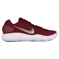 Nike React Hyperdunk 2017 Low - Men's - Maroon / Silver