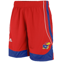 adidas College Point Guard Shorts - Men's - Kansas Jayhawks - Red / Blue