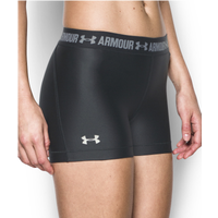 "Under Armour HeatGear 3"" Compression Shorts - Women's - Black / Grey"