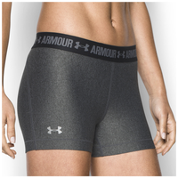 "Under Armour HeatGear 3"" Compression Shorts - Women's - Grey / Black"