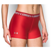 "Under Armour HeatGear 3"" Compression Shorts - Women's - Red / White"