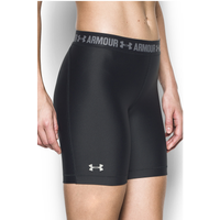 "Under Armour HeatGear 7"" Compression Shorts - Women's - Black / Grey"