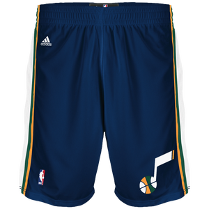 adidas NBA Swingman Shorts - Men's - Utah Jazz - Dark Navy