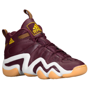 adidas Crazy 8 - Men's - Light Maroon/White/Tribe Yellow