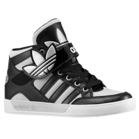 adidas Originals Hard Court Hi Strap - Boys' Grade School - Black / Grey