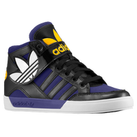 adidas Originals Hard Court Hi Strap - Boys' Grade School - Black / Purple