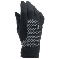Under Armour ColdGear Threadborne Run Gloves - Men's - Black / Black